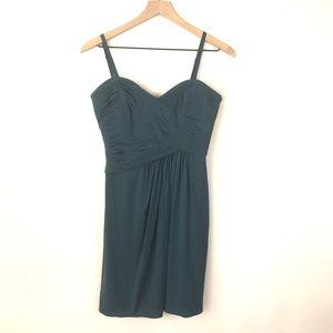 BCBGMaxAzria Pleated Bodice Strapless Dress Sz 4
